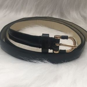 J.Crew Skinny Synthetic Leather Belt, Large